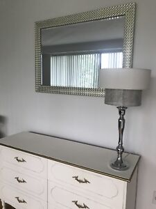 Moving Sale Wardrobe 6 Drawer Dresser, Mirror, Lamp.