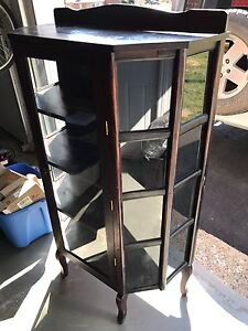 Beautiful bow front antique China display cabinet