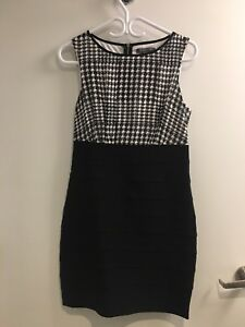 Black and houndtooth dress - size M, Suzy Shier