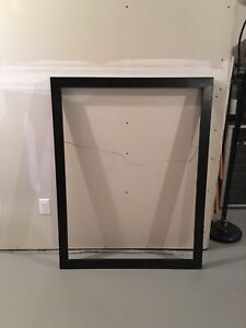 Large solid wood black frame for canvas or mirror