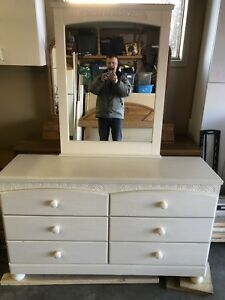 Bedroom dresser and amour. Excellent for girls room