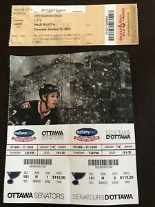 Ottawa Sens vs StL Blues - 100 Level Tickets and Parking Pass