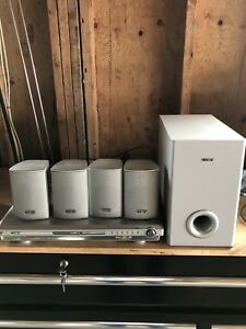 Coby surround sound with sub and dvd player