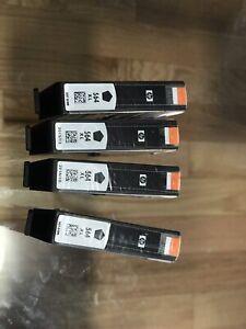 Cartouches (4) encre original Noir HP 564 XL