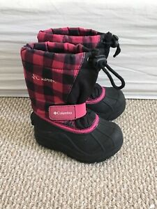 Columbia winter boots toddler size 7