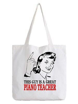 Klavier Lehrer Tragetasche Shopper Beste Geschenk Tolle Musik Spieler Pianist