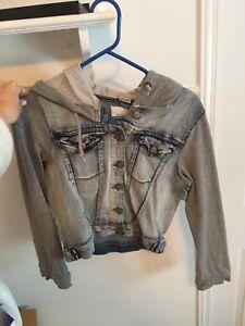 Veste de jeans avec manches en coton ouate