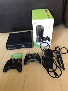 Xbox 360 console two controllers