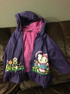 Size 2T Hello kitty rain jacket $10