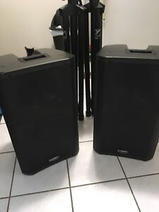 Almost new QSC K12 active speakers