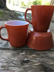 Corning Mugs and Bowl Set