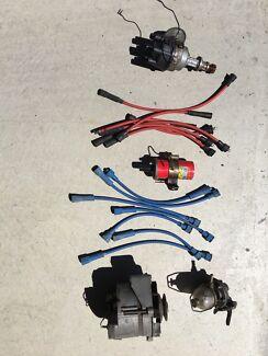 Holden HR alternator, distributor,  leads, GT40 coil, fuel pump