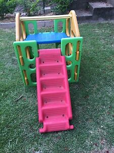 Kids play gym climbing frame with sprinkler Newmarket Brisbane North West Preview