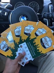 6 Grey Cup Tickets For Sale
