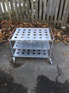 Vintage ikea Industrial looking metal utility cart
