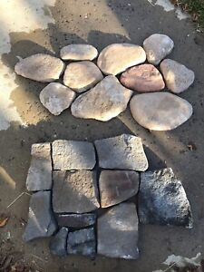Earth blend river rock and country Tudor fieldstone