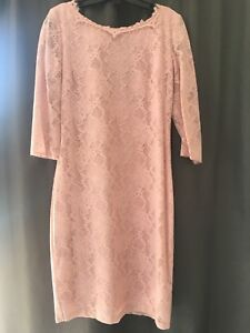Le Chateau pale pink fitted lace dress