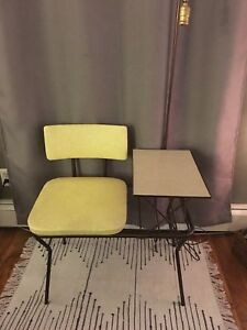 Vintage mid-century telephone table/ gossip bench