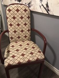Dining room chairs (set of 8)