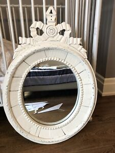 Restoration hardware distressed white mirror