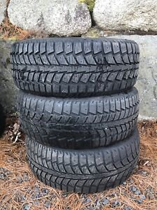 3 winter tires 205/55/16 Uniroyal Tiger Paw going cheap