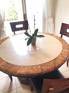 Stone Dining Set in Very Good Condition