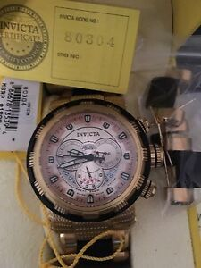 Invicta gold and rose gold face. Reserve model