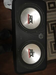 2 12 inch mtx thunder 5500 subs and amp