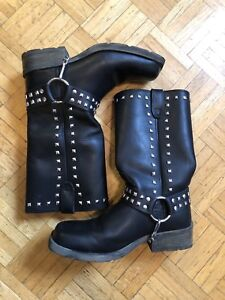 Women's Dingo Leather Motorcycle Boots