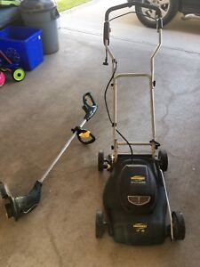 Electric chord lawn mower and trimmer