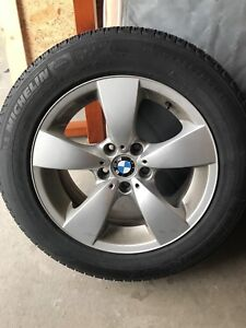 Bmw oem 17 in rims and Michelin Xice 3 tires