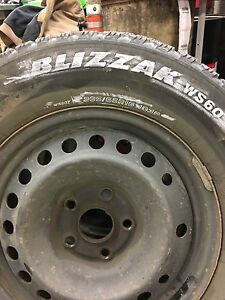 """16"""" WINTER RIMS AND TIRES WITH TPMS"""