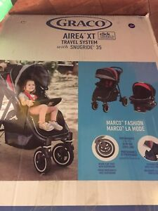 Graco Aire 4 travel system NEW stroller car seat combo snug ride