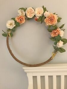 Floral ring wreath