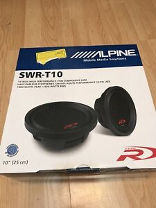 Two alpine swrt10 subwoofers