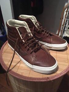 Vans sk8-Hi Reissue Brown Leather (8 pour homme/men)