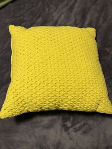 Bright and cheery sunny yellow cushion