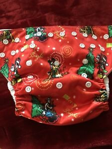 6 Christmas Print Cloth Diapers