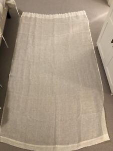 "2 pairs of white sheer curtains from west elm 48"" x 84"""