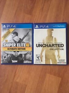 PS4 Uncharted Collection and Sniper Elite 3 Ultimate Edition