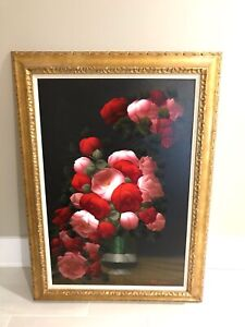 Original Oil Painting C. Lamont.  Oil on Canvas. French, b.1932