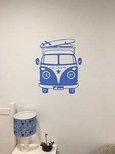 Blue Combi Bus vinyl wall sticker, perfect for kids bedroom. Pagewood Botany Bay Area Preview