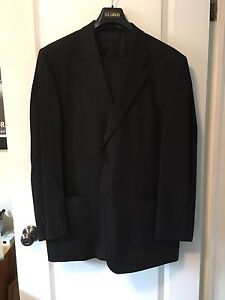 S Cohen Black men's pinstripe suit