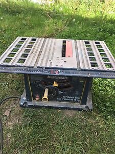 "Mastercraft 10"" table saw need gone"