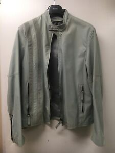 Armani leather Motorcycle scrambler cafe racer jacket