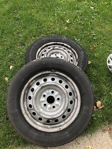 Summer tires on rims Nokian