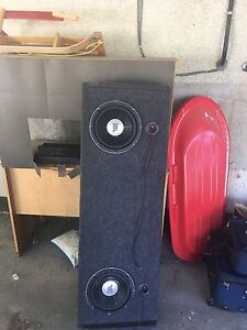 """Top end jbl 10"""" subs and truck box"""