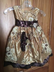Beautiful Little Girls Princess  Party Dress Christmas sz L