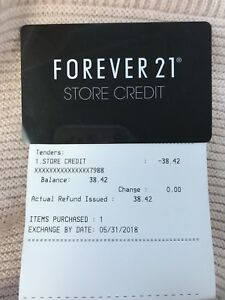 Forever21 store credit