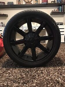 "22"" KMC Slide rims and rubber"